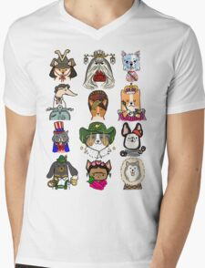 Dogs Around the World Mens V-Neck T-Shirt