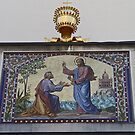 Mosaic, St Peters Church, Ljubljana, Slovenia by Margaret  Hyde