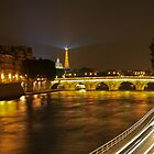 Eiffel Tower at night from Saint-Germain by DavidONeill