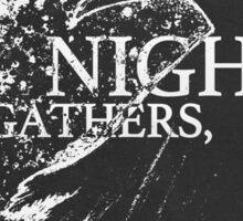 Night Gathers Sticker