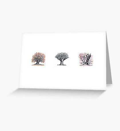 Trio of trees Greeting Card