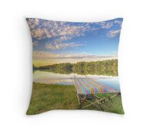Hammock by the Water Throw Pillow