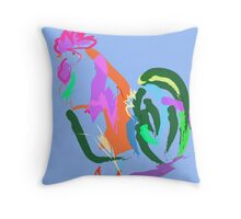 Happy Rooster Throw Pillow