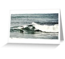 Surfing Frenchmans Greeting Card
