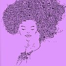 Flower Woman Purple by KeLu