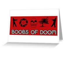 Boobs of DOOM: O-Cult Icons Greeting Card