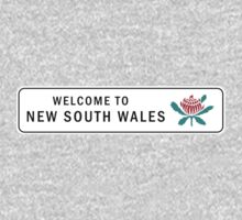 Welcome to New South Wales Road Sign, Australia Kids Tee