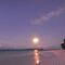 Full Moon over Yacht Club Beach by Karen Willshaw