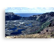 Rano Kau Volcanic Crater, Easter Island Canvas Print