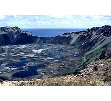 Rano Kau Volcanic Crater, Easter Island Photographic Print