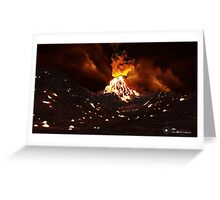 Volcan Greeting Card