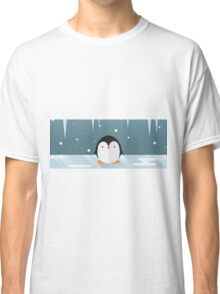 Penguin in the Snow Classic T-Shirt