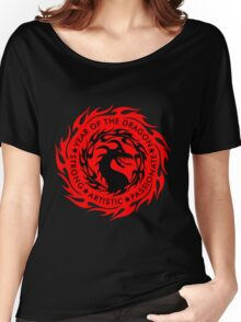 Chinese Zodiac Year of The Dragon Graphic Design Women's Relaxed Fit T-Shirt