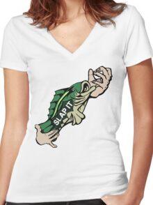Slap Da Bass Women's Fitted V-Neck T-Shirt
