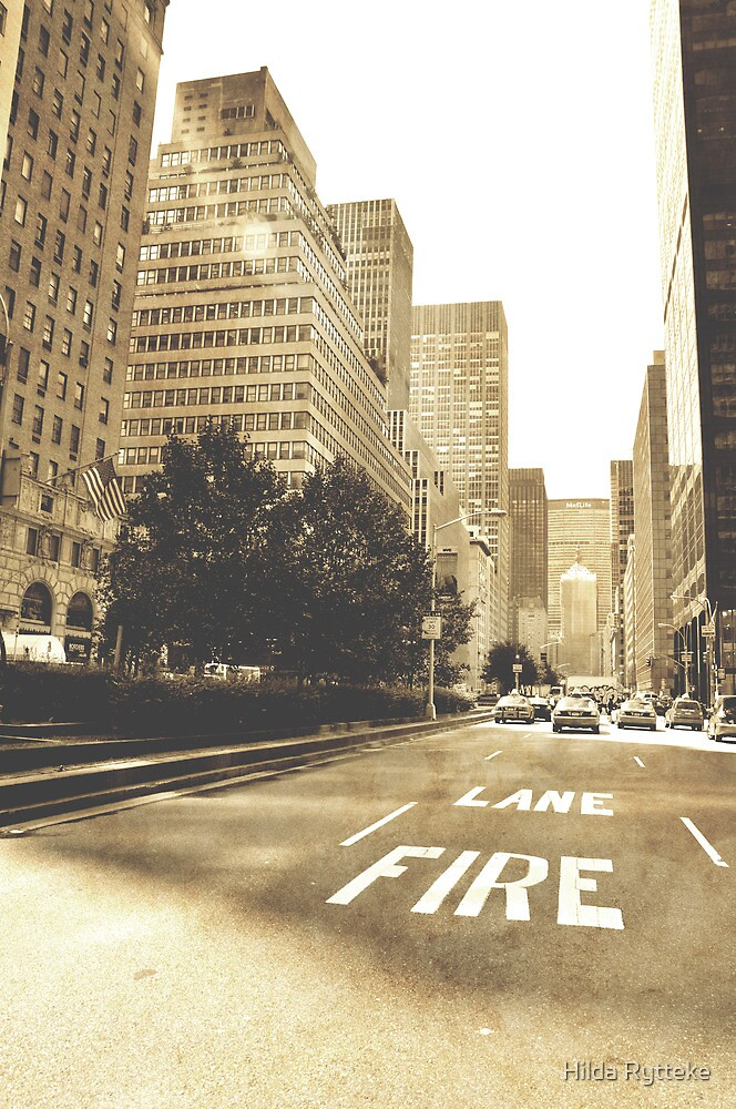 New York in Sepia by Hilda Rytteke