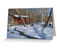 Snow Covered Mingo Greeting Card