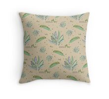 Kalanchoe Daigremontiana Pattern Throw Pillow