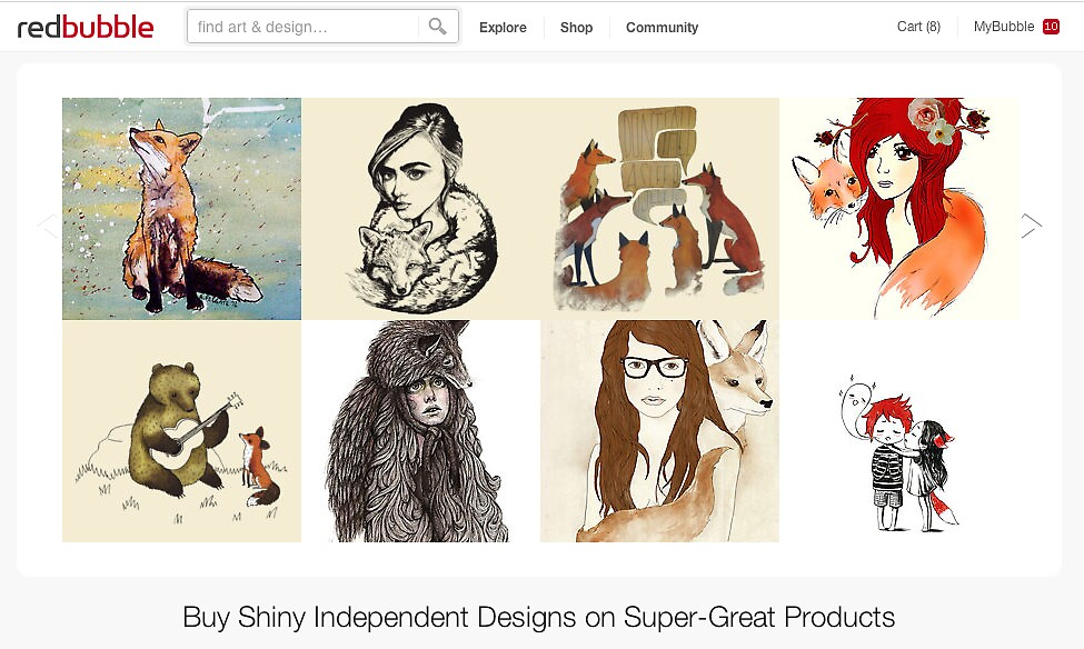 5 July 2012 by The RedBubble Homepage