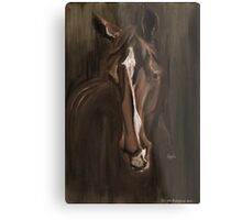 Horse Apple Warm Brown Metal Print