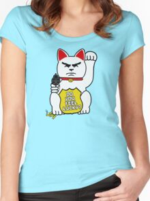 Do You Feel Lucky? Women's Fitted Scoop T-Shirt