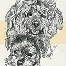 YorkiePoo Father & Son by BarbBarcikKeith