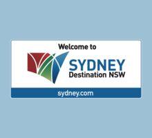 Welcome to Sydney Destination NSW Road Sign, Australia Kids Tee