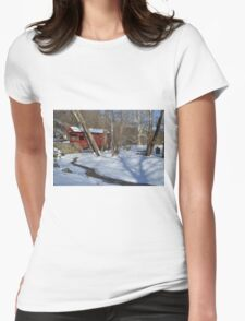 Snow Covered Mingo Womens Fitted T-Shirt
