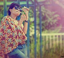 Smooking girl by DettodeSilva