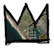 """Basquiat """"King of Venice Beach"""" Marina Del Ray Photographic Print"""