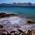 Sea spray on the rocks by Frank Olsen