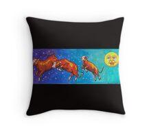 Moon Cows! Throw Pillow