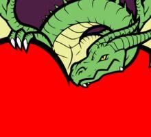 Big Heart Dragon Design, Big Hearted Dragon Design On Purple Background Sticker