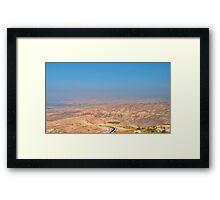 Jordan Valley Framed Print