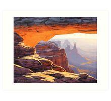 Canyon Sunrise Painting Art Print