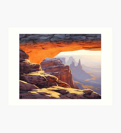 Canyon Sunrise Painting Art Print
