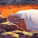 Canyon Sunrise Painting by Graham Gercken