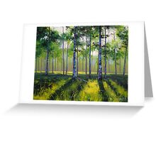 Spring Aspen trees Greeting Card