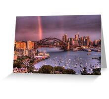 Afternoon Delight - Double Rainbow Sydney Harbour - The HDR Experience Greeting Card