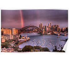 Afternoon Delight - Double Rainbow Sydney Harbour - The HDR Experience Poster
