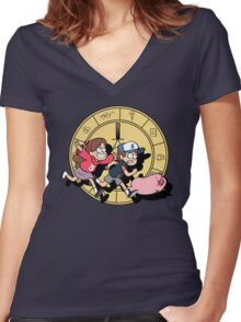 The Adventures of the Mystery Twins Women's Fitted V-Neck T-Shirt