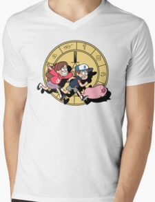 The Adventures of the Mystery Twins Mens V-Neck T-Shirt