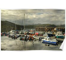 A Highland Harbour Poster