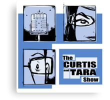 Curtis and Tara Show Blue Period Logo  Canvas Print