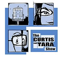Curtis and Tara Show Blue Period Logo  Photographic Print