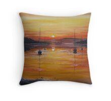 watery sunset Throw Pillow