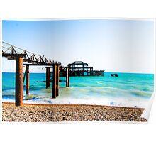 West Pier at Brighton Beach Poster