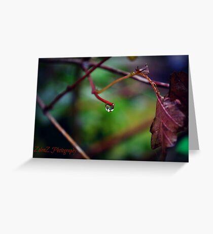 Autumn Teardrop Greeting Card