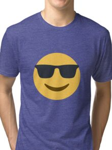 smiling face with sunglasses Tri-blend T-Shirt