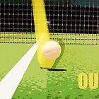 Tennis Hawkeye Out by Natalie Kinnear
