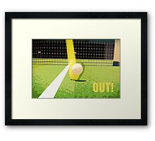 Tennis Hawkeye Out Framed Print